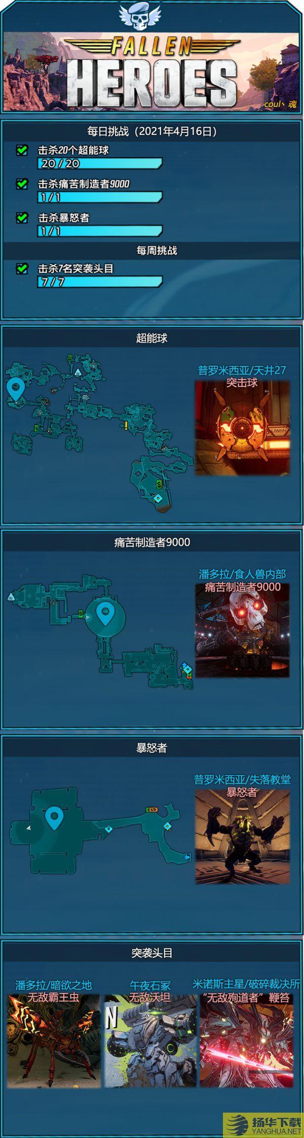 《无主之地3》4月16日秘藏卡片任务一览